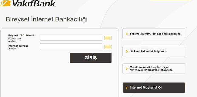 Vakıfbank İnternet Bankacılığı